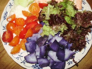 A very colourful salad full of healthy nutrients